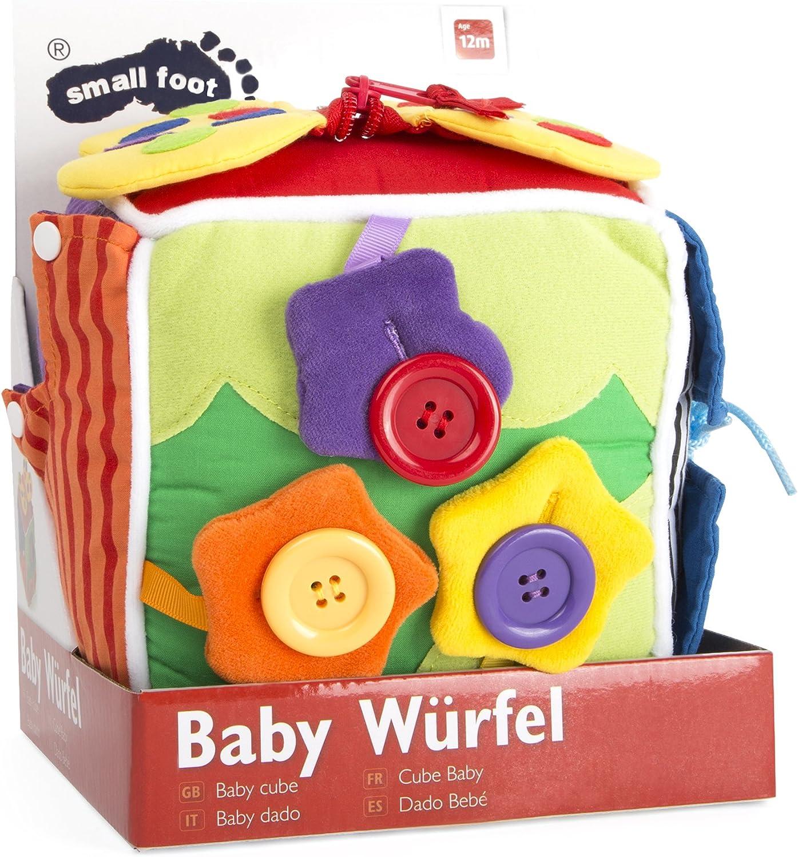 Würfel mit Rassel Babywürfel le petit 3 Stück Textilwürfel