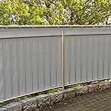 MW Handelsgesellschaft mbH Balkonsichtschutz 600x90 cm mit Kordel + 25 Kabelbinder gratis (Grau)