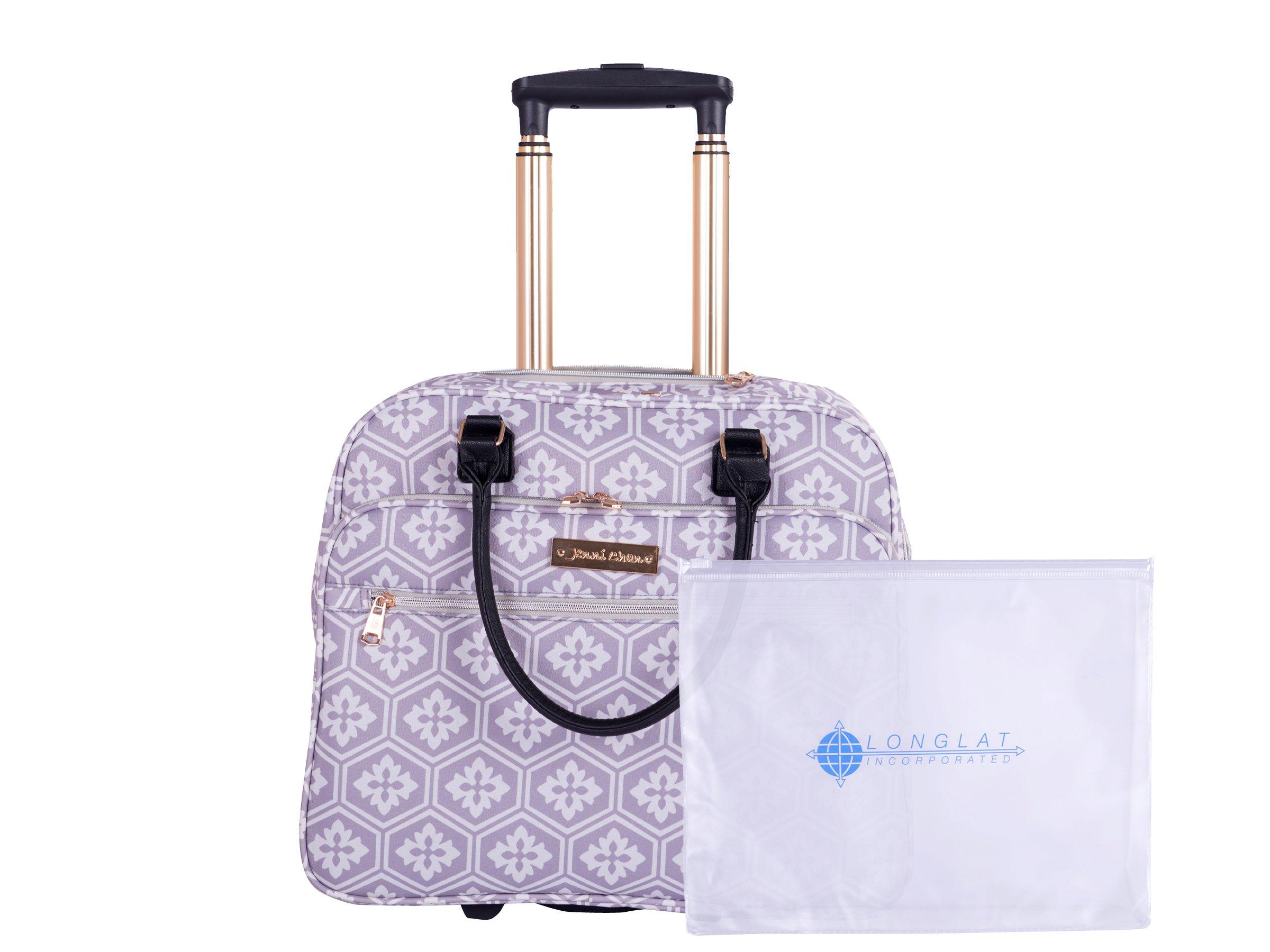 Jenni Chan Adra 2-Piece Set Business 311 Bag Travel Tote, Grey, One Size
