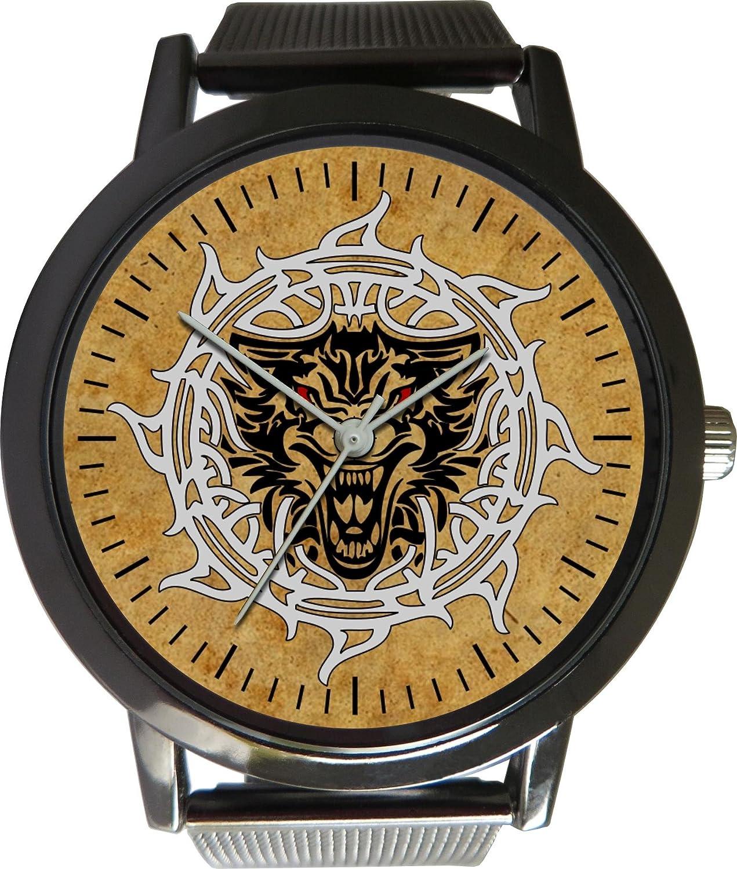 Reloj de diseño celta con correa de malla de metal: Amazon ...