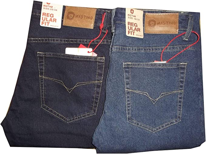 Linea Uomo Jeans Gamba Dritta Regular Fit Denim Pantaloni Pants vendita Tutte Le Taglie Vita