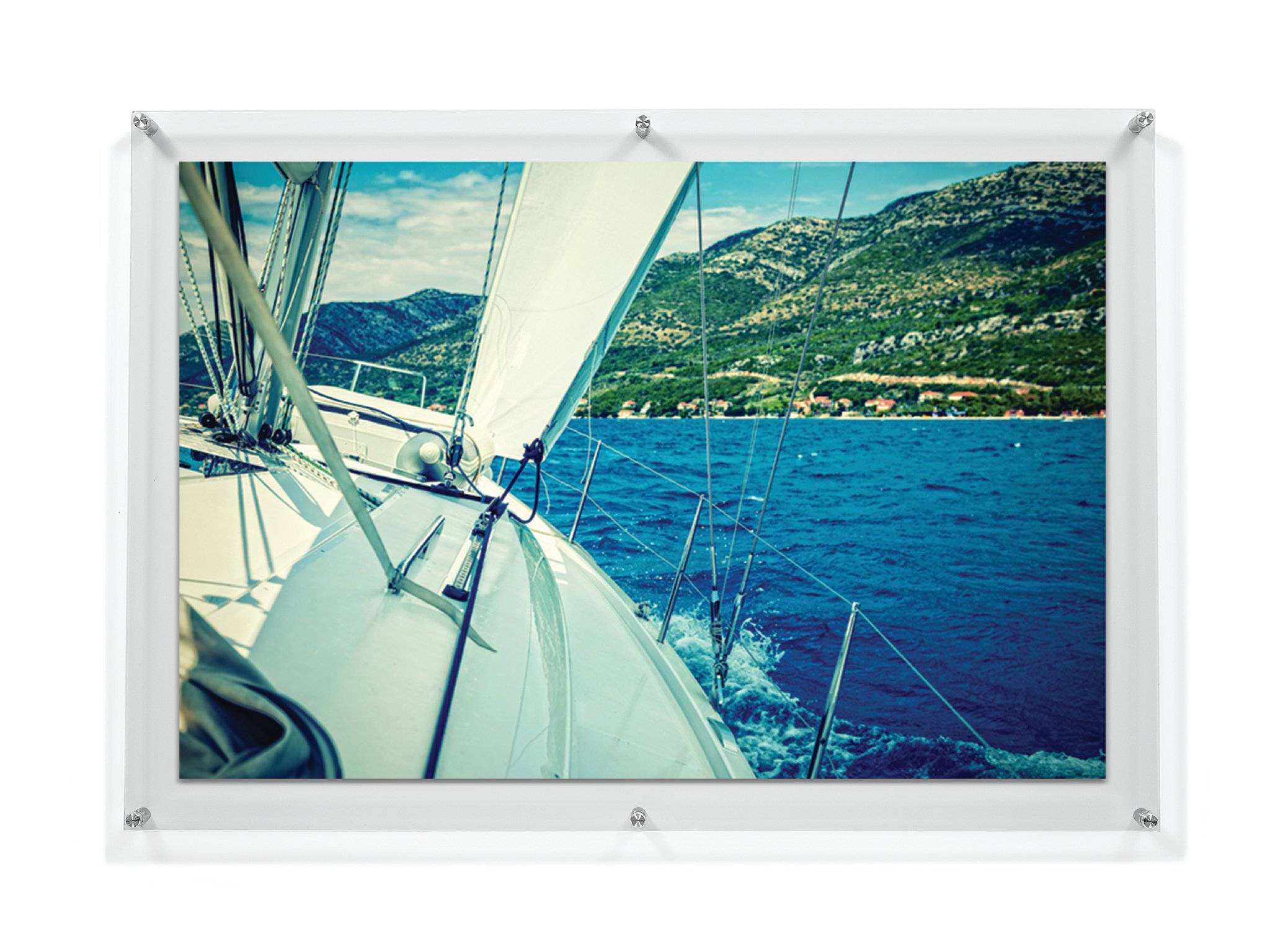 Wexel Art 28x40-Inch Double Panel Clear Acrylic Floating Frame for Up to 24x36 Art & Photos