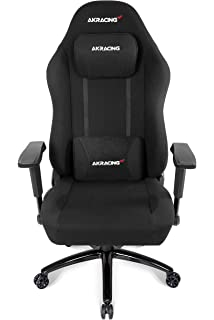 AKRacing Office Series Opal Ergonomic Fabric Computer Chair with High Backrest, Recliner, Swivel,
