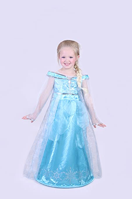 Amazon.com: Auténtico Disney Paris Elsa Frozen Costume Dress ...