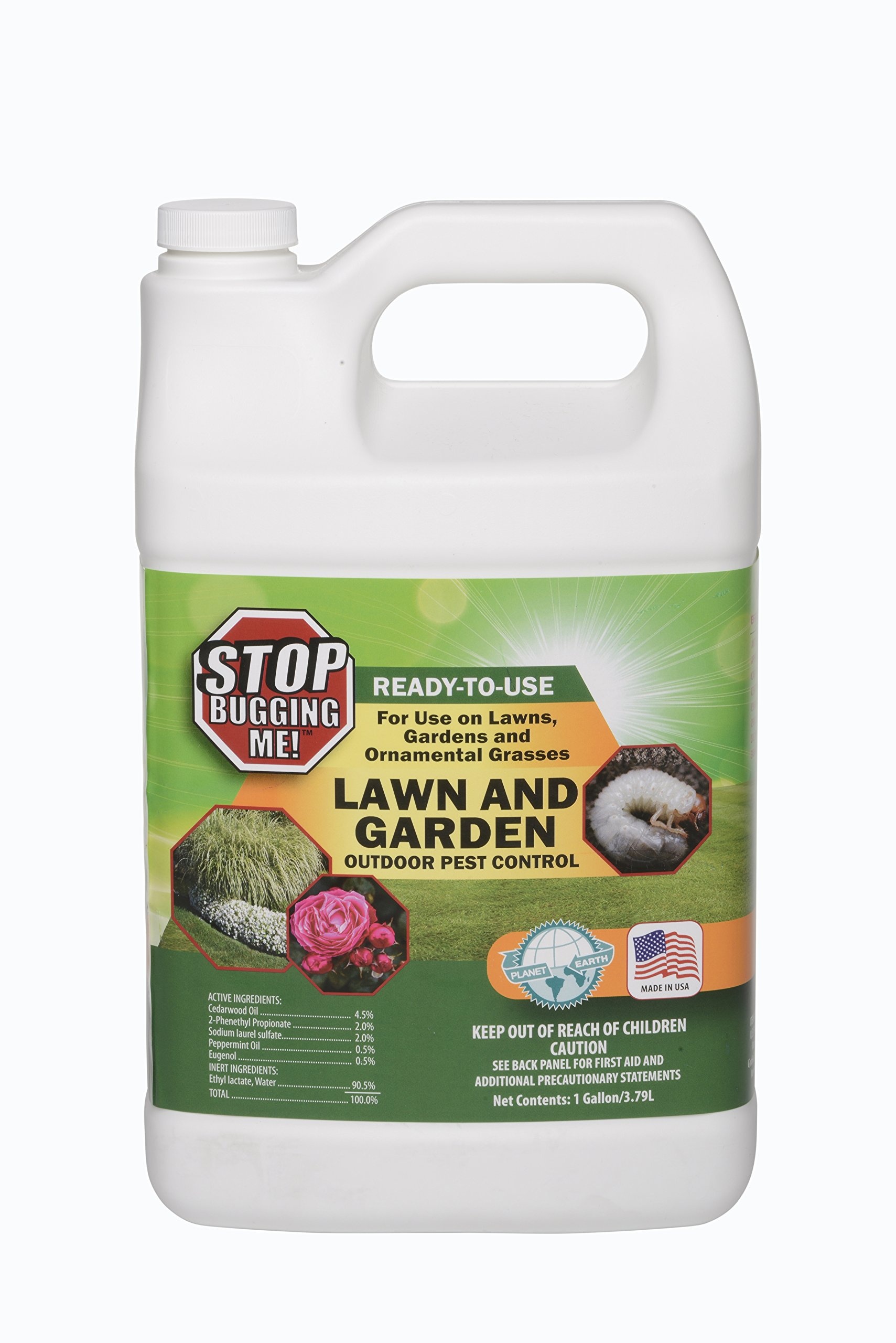 EcoClear Products 774531, Stop Bugging Me! All-Natural Non-Toxic Lawn & Garden Outdoor Pest Control, Ready to Use with Trigger Sprayer, 1-Gallon