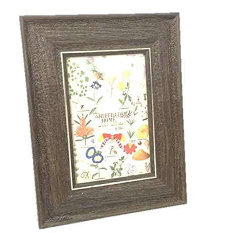 Amazon.com - Sheffield Home Brown Wood Grain 5 by 7 Picture Frame ...