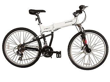 ECOSMO 26AF18W - Bicicleta plegable (de montaña, suspensión, más de 18 velocidades,