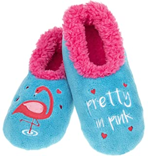 3a5ca6a53eb Snoozies Ladies Creature Comforts Designs Sherpa Fleece Non Slip Slippers