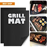 Amazon Best Shop_ High Temperature resistance non stick baking mats BBQ grill mat 2 sheets (33x45cm_0.2mm)