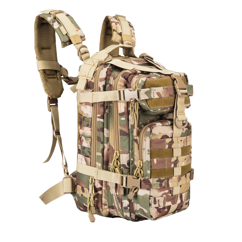 30L Sport Outdoor Military Rucksacks Tactical Camping Hiking Trekking Small Assault Backpack Bag 08009B [Factory Store] (OCP 08009B)