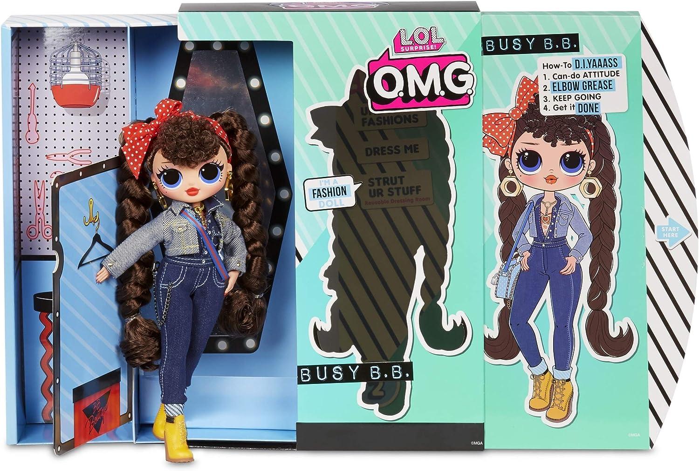 Surprise O.M.G Fashion Doll with 20 Surprises,Multicolor Busy B.B L.O.L