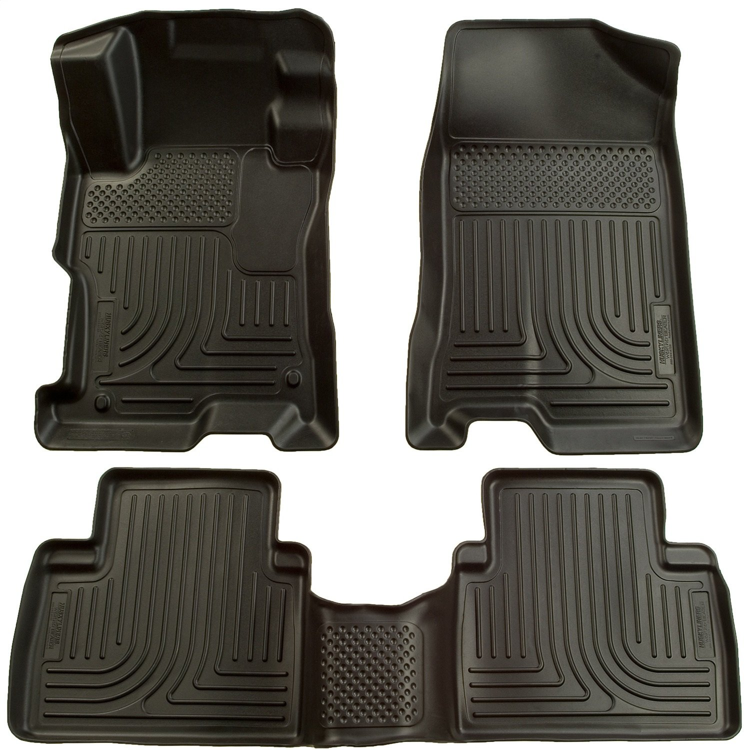 Husky Liners Custom Fit WeatherBeater Molded Front and Second Seat Floor Liner Set for Select Honda Civic Models (Black) 98441