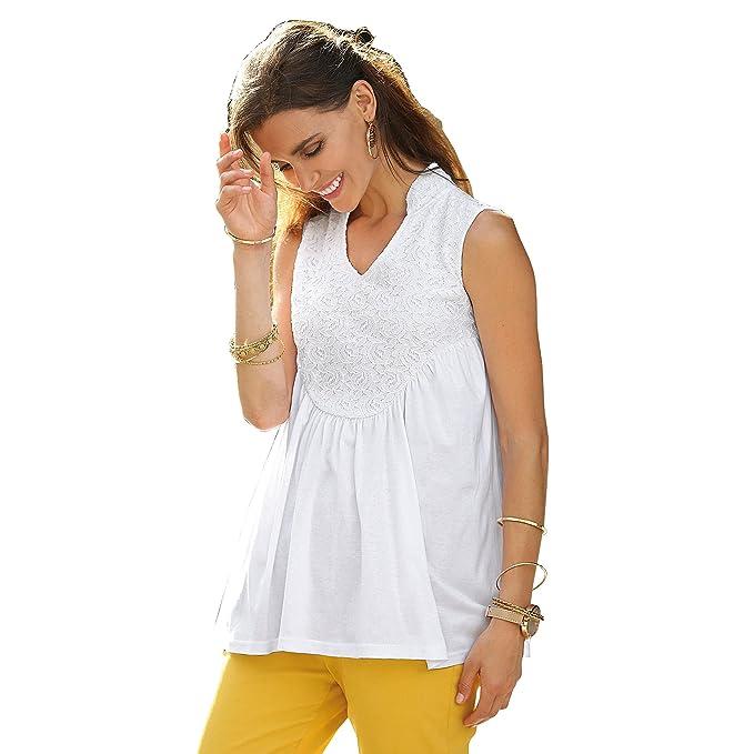 VENCA Camiseta de línea evasé Mujer by Vencastyle - 014375: Amazon.es: Ropa y accesorios