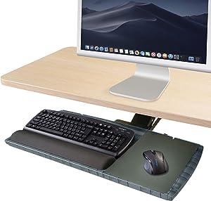 Kensington Underdesk Adjustable Keyboard Platform with Wrist Rest (K60067)