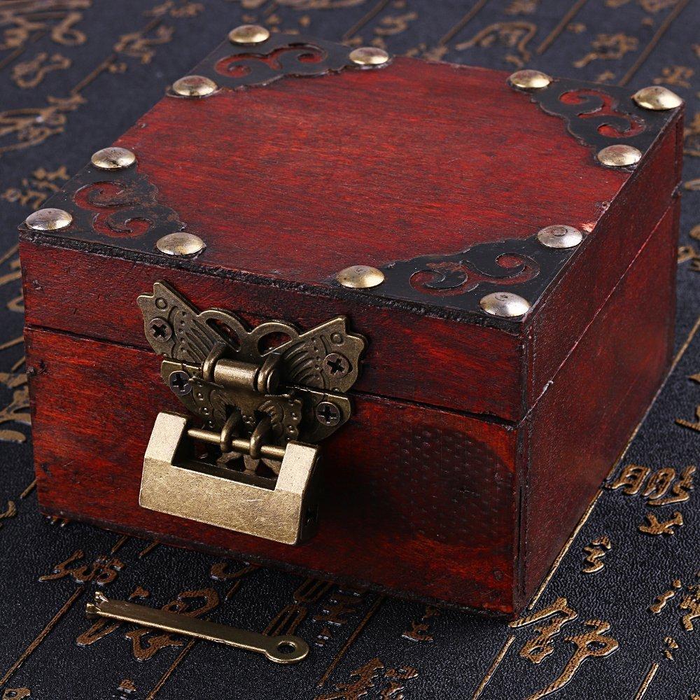 Vintage de seguridad con llave y mariposas Latch hasp y tornillos para armario caja de joyas caja de regalo