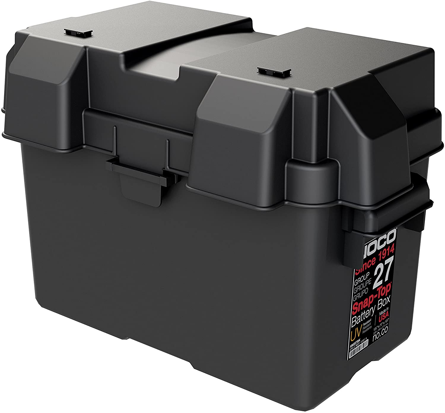 NOCO HM327BKS Group 27 Snap-Top Battery Box For RV, Camper And Trailer Batteries