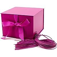Hallmark - Caja de regalo grande con relleno (rosa caliente)