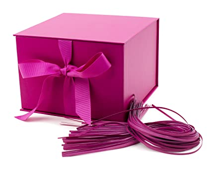 Amazon hallmark large solid color gift box hot pink kitchen hallmark large solid color gift box hot pink negle Gallery