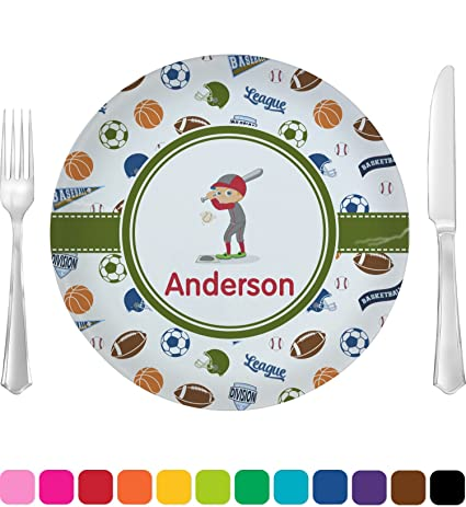 Sports Dinner Plate (Personalized)  sc 1 st  Amazon.com & Amazon.com | Sports Dinner Plate (Personalized): Dinner Plates