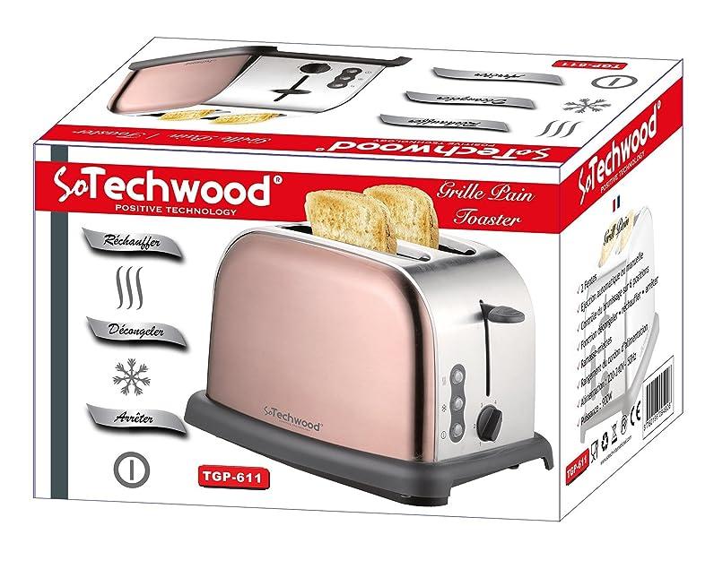 Techwood TGP-611 Grille Pain avec 2 Fentes Bronze: Amazon.fr ...