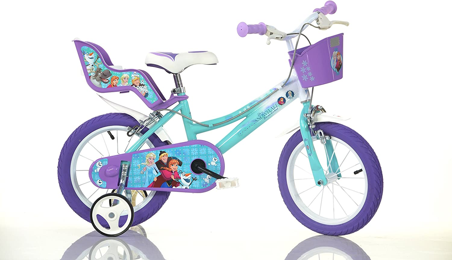 "Disney Frozen 2 Girls Bike 14/"" Wheel Bicycle With Stabilisers"