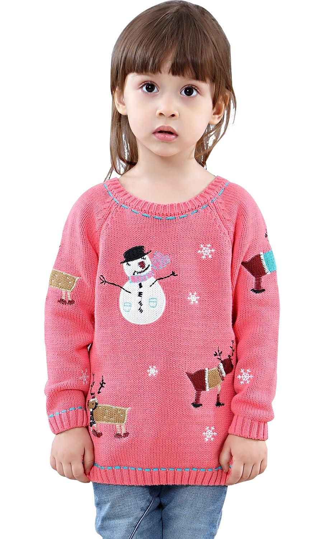 29bae5597 Amazon.com  Shineflow Kids Children Baby Girls Snowman Reindeer Ugly ...