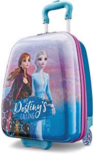 American Tourister Kids' Disney Hardside Upright Luggage, Frozen Destiny, Carry-On 16-Inch