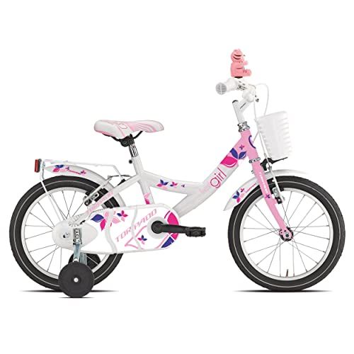 "'Torpado vélo Junior Trilly 16""Petite fille 1V Blanc Rose (enfant)/Bicycle Junior Trilly 16Girl 1V White Pink (Kid)"