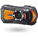 RICOH WG-70 Orange Waterproof Digital Camera 16MP High Resolution Images Waterproof 14m Shockproof 1.6m Underwater Photograph
