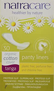 Natracare Natural Panty Liners, Tanga, 30 Count Boxes