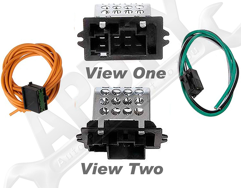 Amazon.com: APDTY 084529 Blower Motor Resistor Kit(Fits 1995 ... on 2000 pontiac sunfire wire harness, 2000 toyota tundra wire harness, 2000 buick lesabre wire harness,