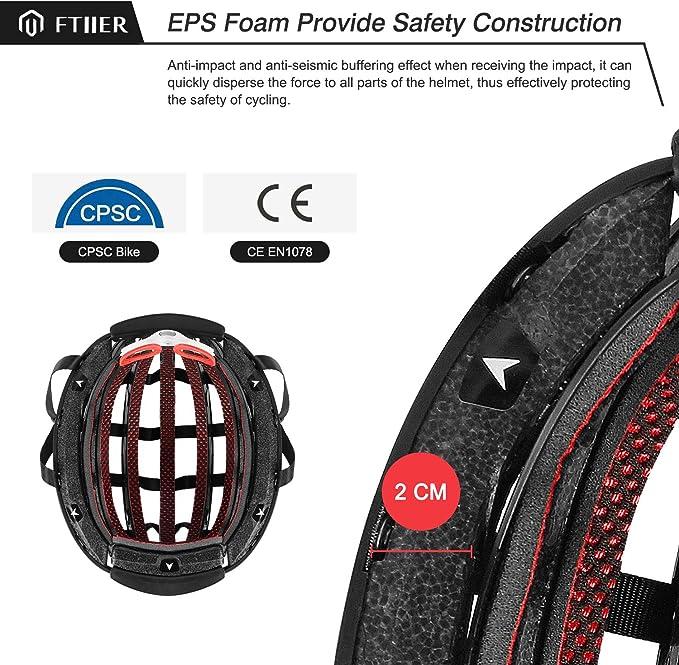 Amazon.com: Ftiier - Casco plegable para bicicleta ...