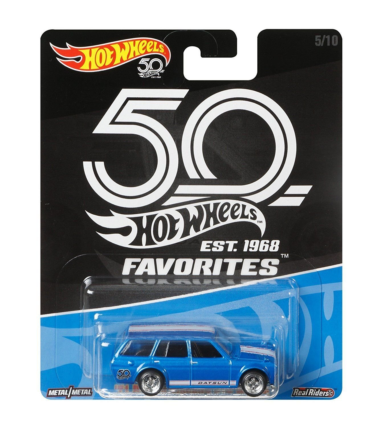 Amazon.com: 2018 Hot Wheels 50th Anniversary Favorites Series Set of 5 1/64 Scale Diecast Cars: Toys & Games