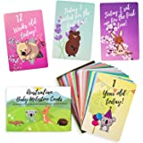 Baby Milestone Cards – 30 Unisex Baby Milestone Cards Including Your Babies Key Moments – Beautifully Designed…