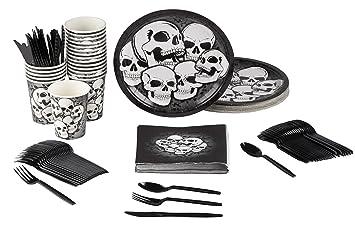 ~ Birthday Party Supplies Skull HALLOWEEN Spooky Symbols LUNCH NAPKINS 16