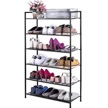 Incroyable 3s 6 Tier Adjustable Shoe Rack Organizer Utility Shoe Storage Stackable  Shelves,Bronze