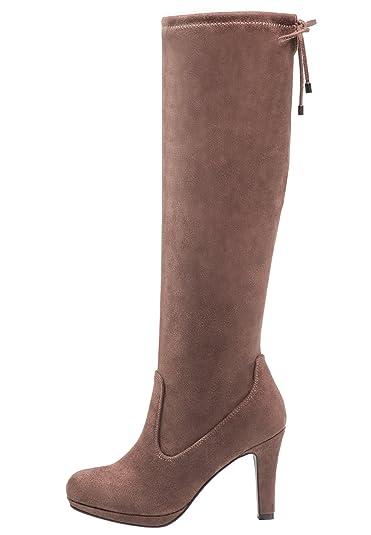 Anna Field Boots High Heel Stiefel Damen in Blau - Langschaft Damenstiefel mit Absatz, 40