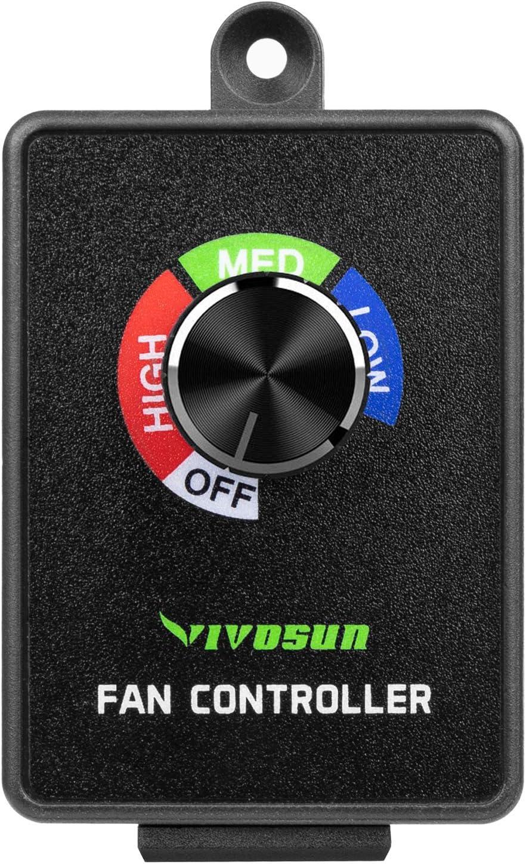 VIVOSUN Inline Duct Fan Speed Controller Vent Fan Speed Adjuster