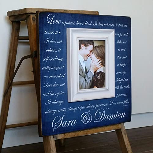 Wedding Gift for Parents Picture Frame Rustic Wedding Decor 16x16 The Sugared Plums Frames