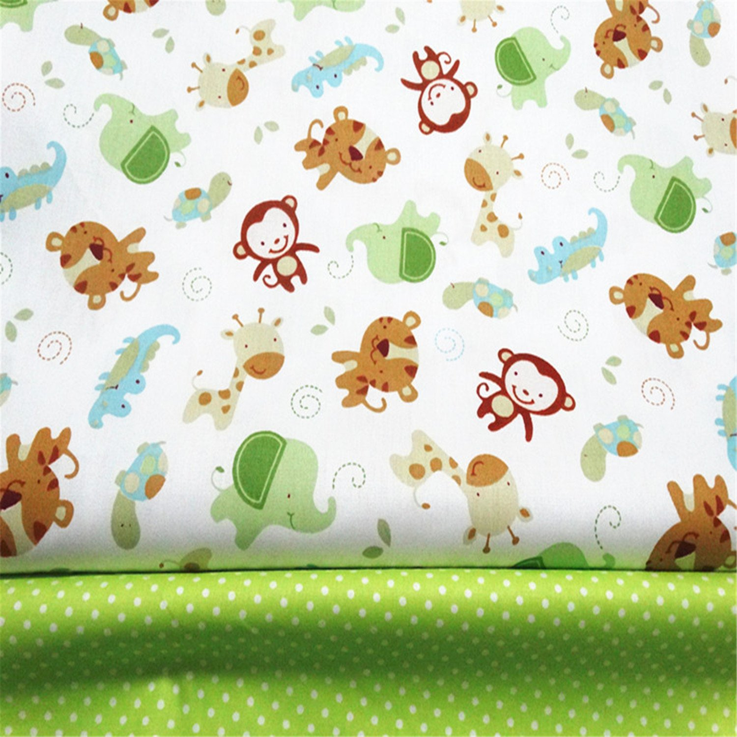 Amazon.com: FUYA 2pieces160cmx100cm Monkey Dots Cotton Fabric Patchwork Tissue Cloth Handmade DIY Quilting Sewing BabyΧldren Sheets Dress Material