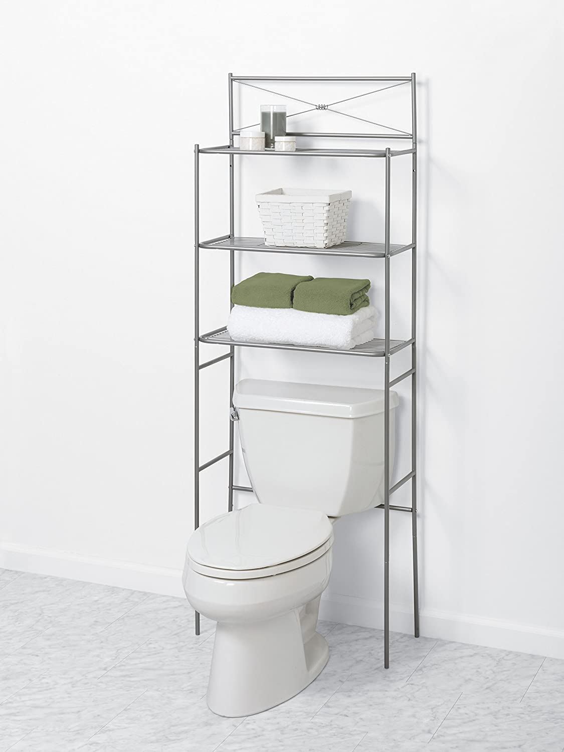 Amazon.com: Zenna Home 2523NN, Cross Style Bathroom Spacesaver ...