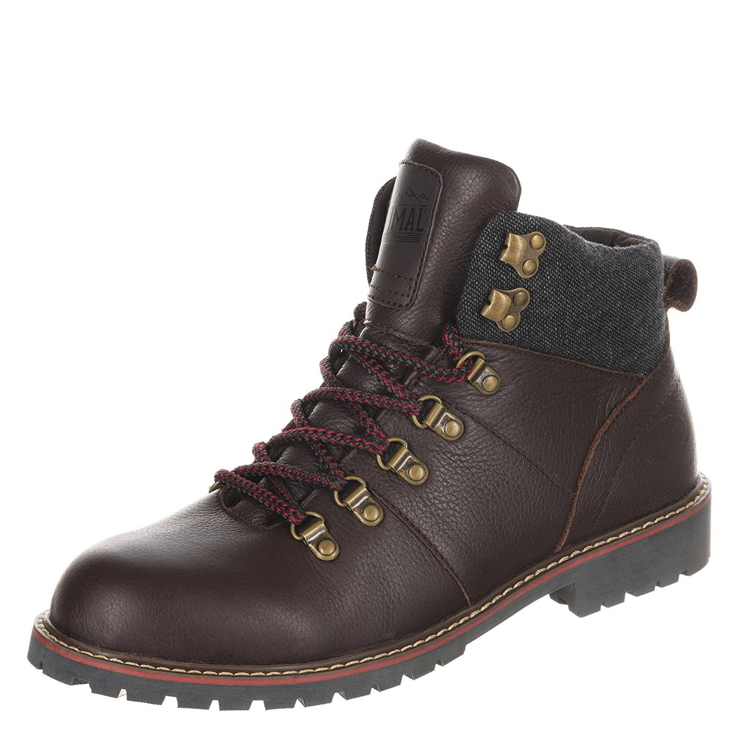 Animal Mens Heathe Leather Hiking Boots 60%OFF