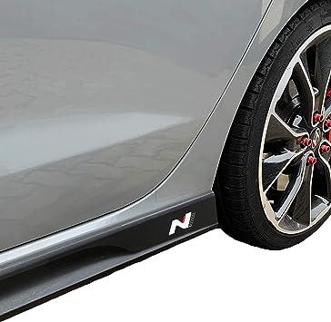 Printattack P042 Emblem N Performance Seitenschweller 2er Set Aufkleber Folie 751 Oracal 3m Carbon Car Styling Dekorset Weiss Carbon Rot Auto