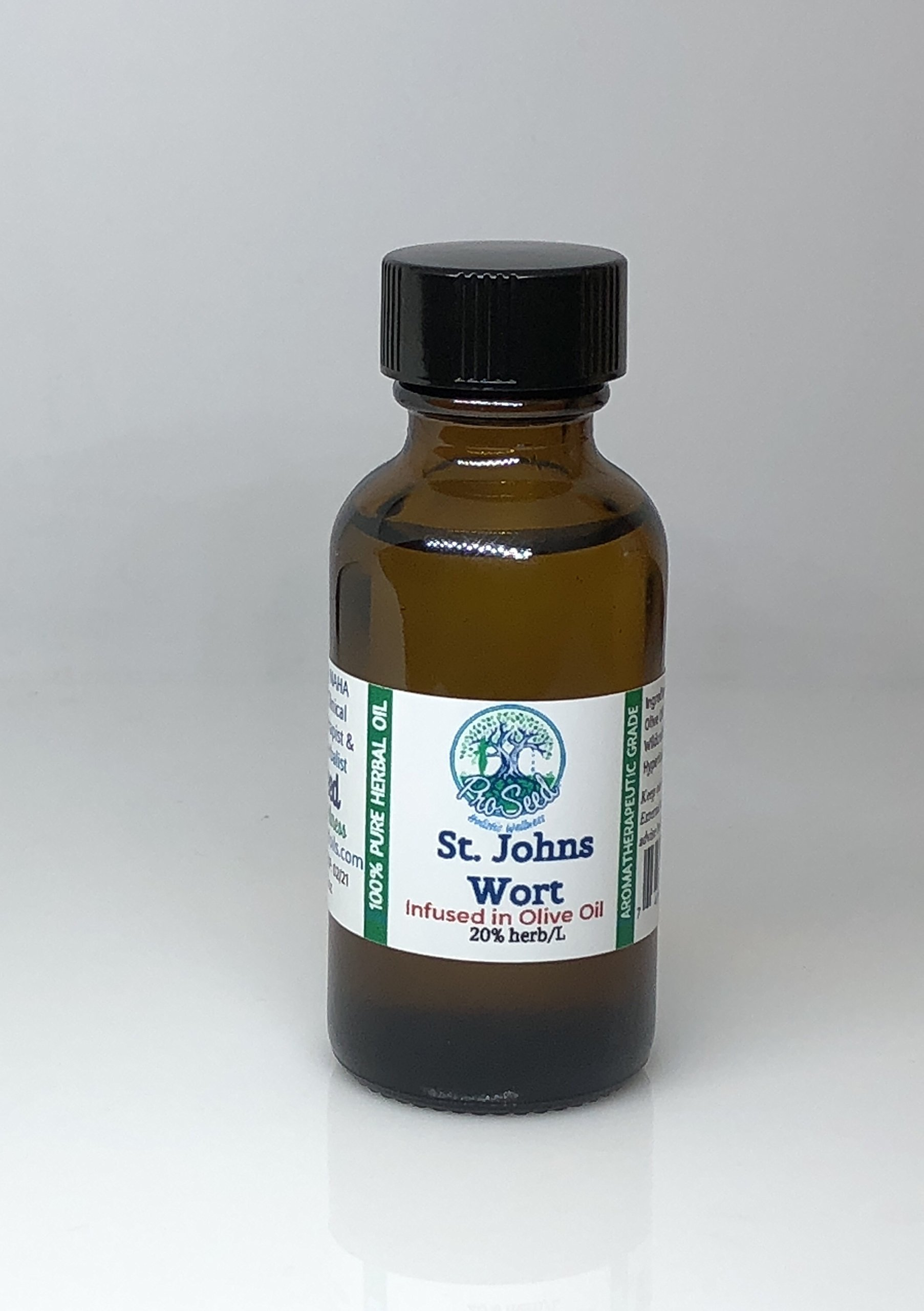 ProSeed Wildcrafted St.JOHN WORT Oil | Anti- Inflammatory and Wound Healing | Cuts and Scrapes | Bruise Oil | Vegan | Herbalist Made | 1oz