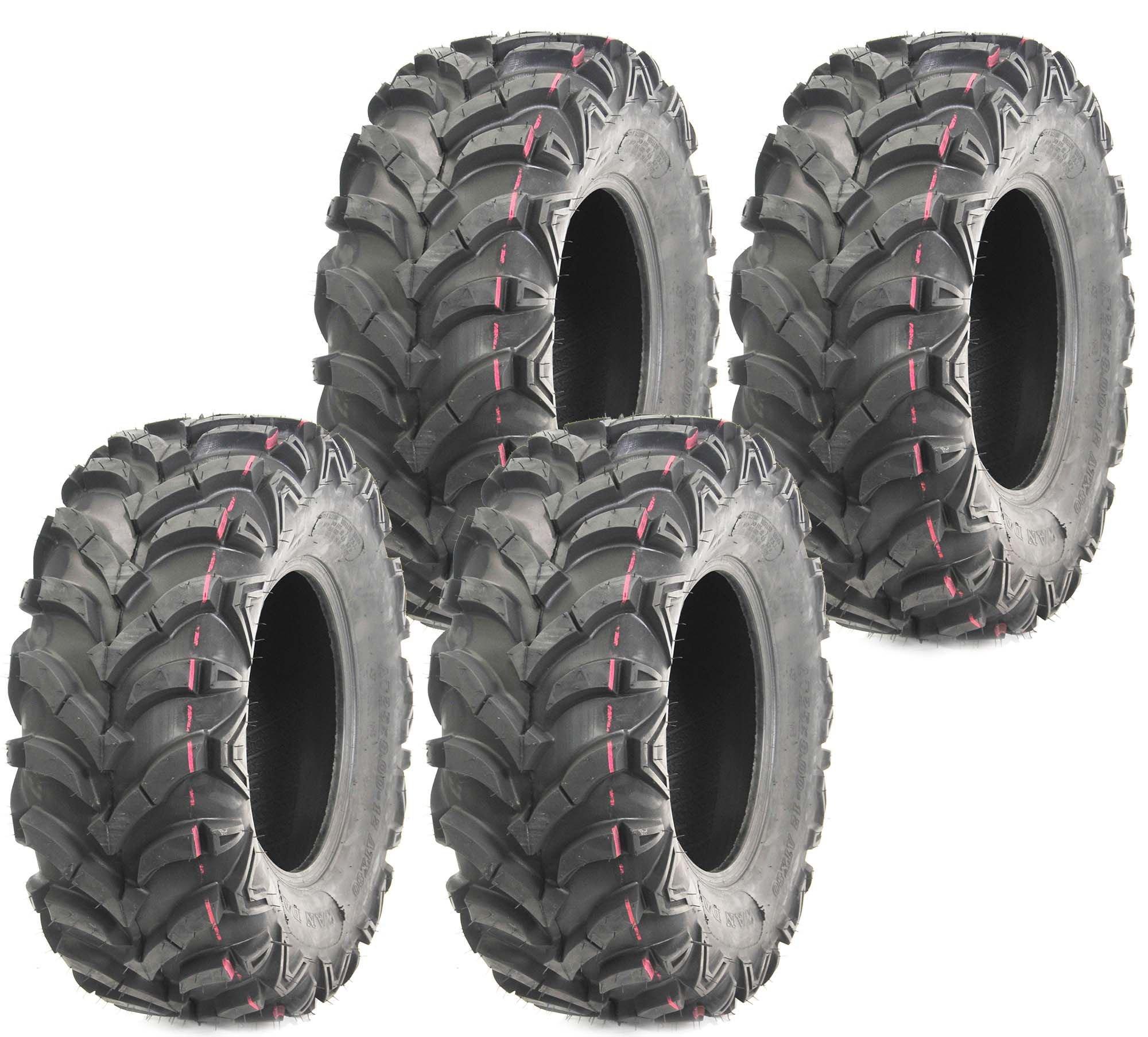 Set of 4 WANDA ATV UTV tires 25x8-12 25X8X12 Front & Rear 6PR P341 ... by WANDA