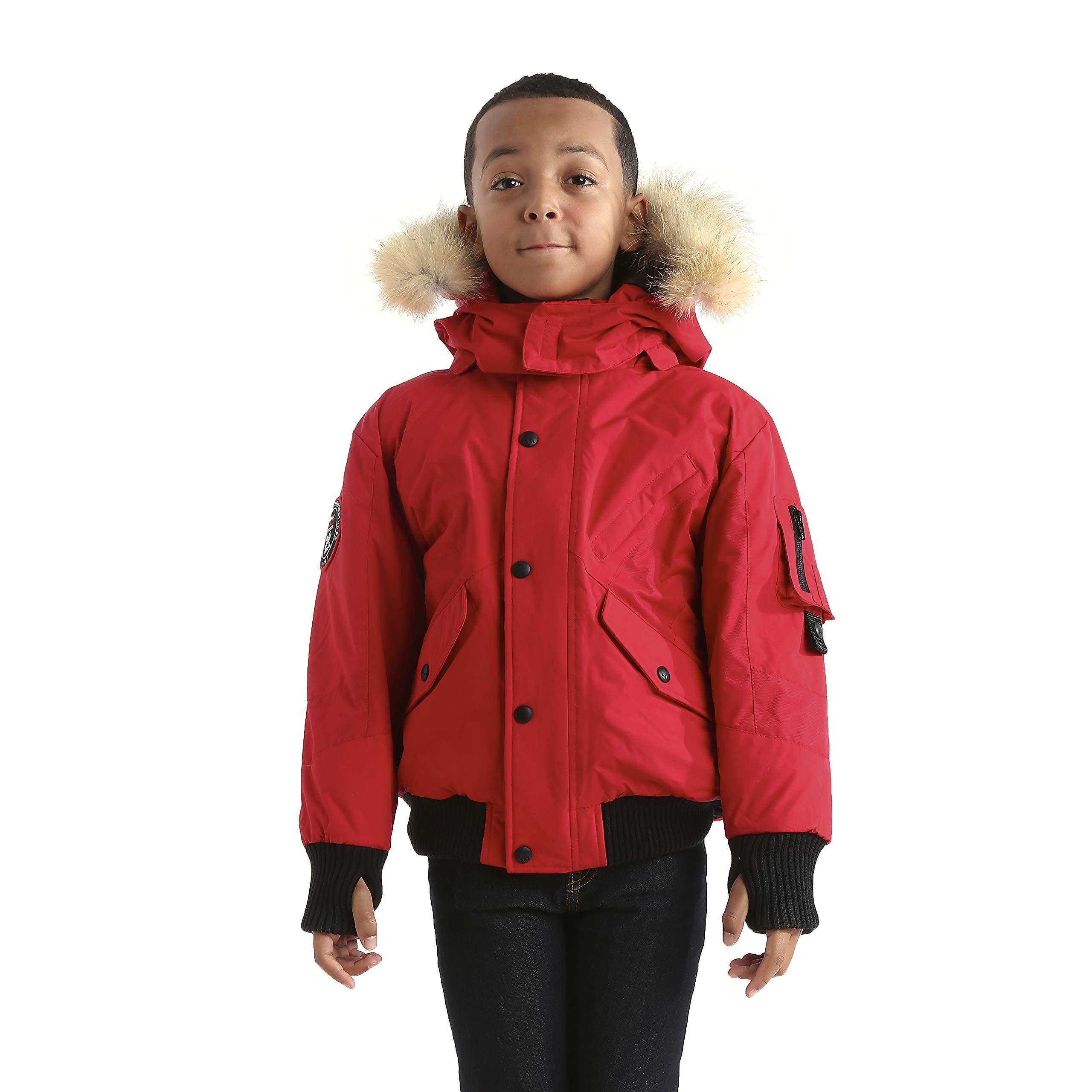 Triple F.A.T. Goose Kids Scotia Premium Down Jacket (7, Red)