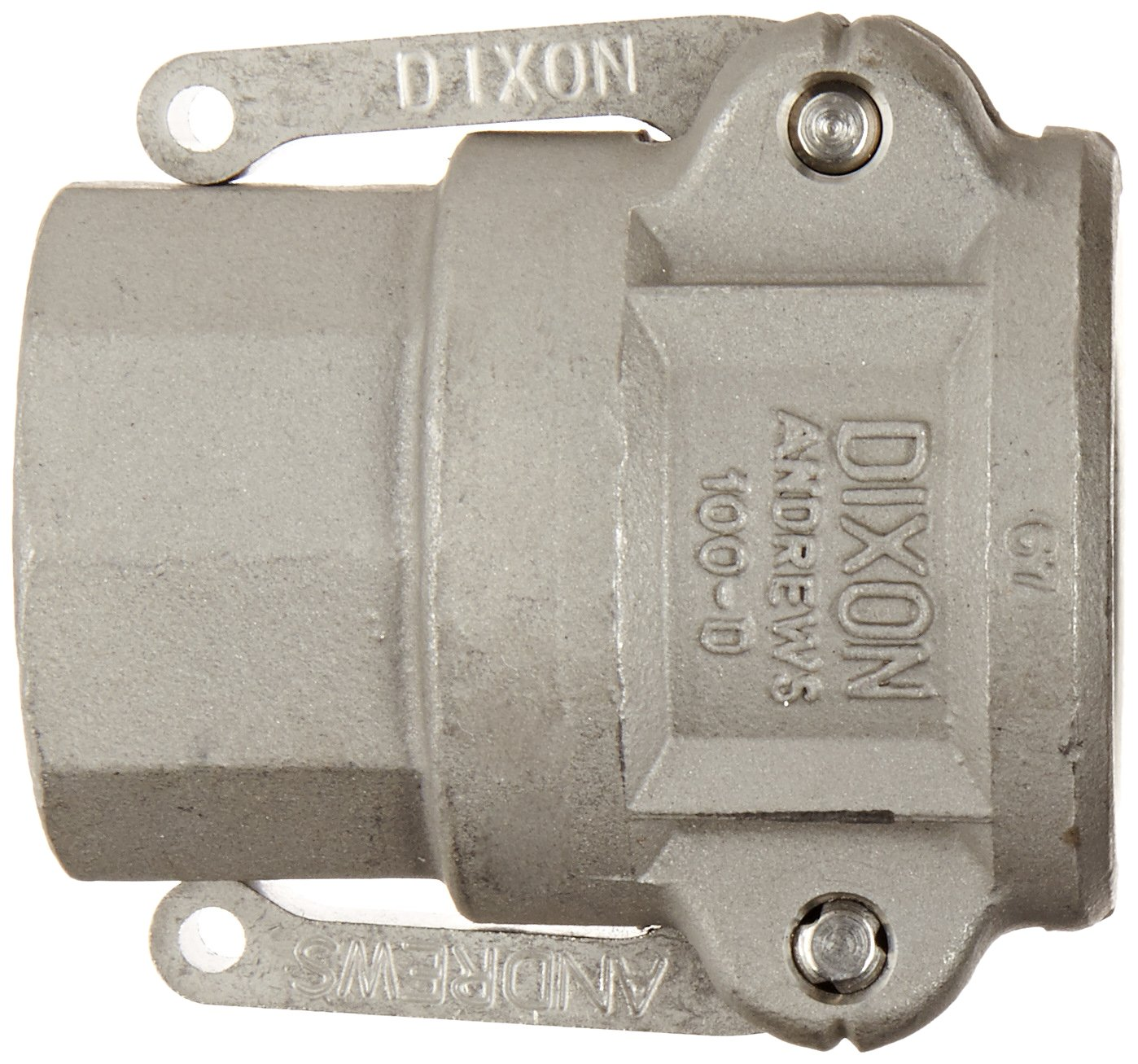 3 Socket x 3 NPT Female Dixon 300-D-SS Stainless Steel 316 Type D Cam and Groove Hose Fitting