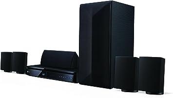 LG LHA725 5.1 sistema de cine en casa Blu-ray 3D (1000 vatios, Smart TV, DLNA, Bluetooth, escala de 1080p) negro: Amazon.es: Electrónica