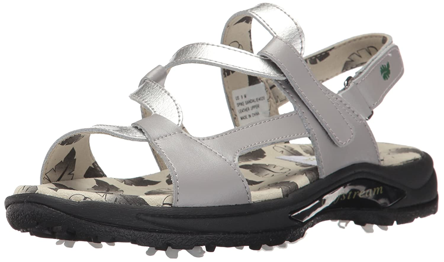 [Golfstream Shoes Womens] レディース Spike Sandal 6 B(M) US Gray/Crystal Silver B0725381SW