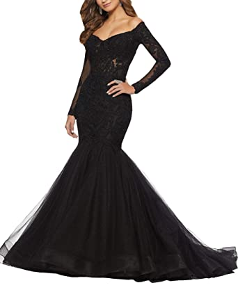 6a0541ed714 Plus Size Formal Dresses Party Dress Off The Shoulder Illusion Long Sleeve  Lace Beaded Mermaid Prom